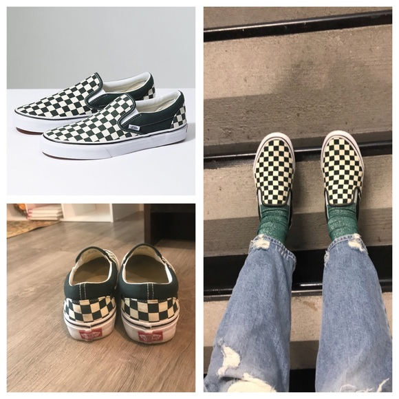 ab9e9b0bfe49 Vans Checkerboard Slip-On in Scarab White. M 5a99c29000450faf1da20556